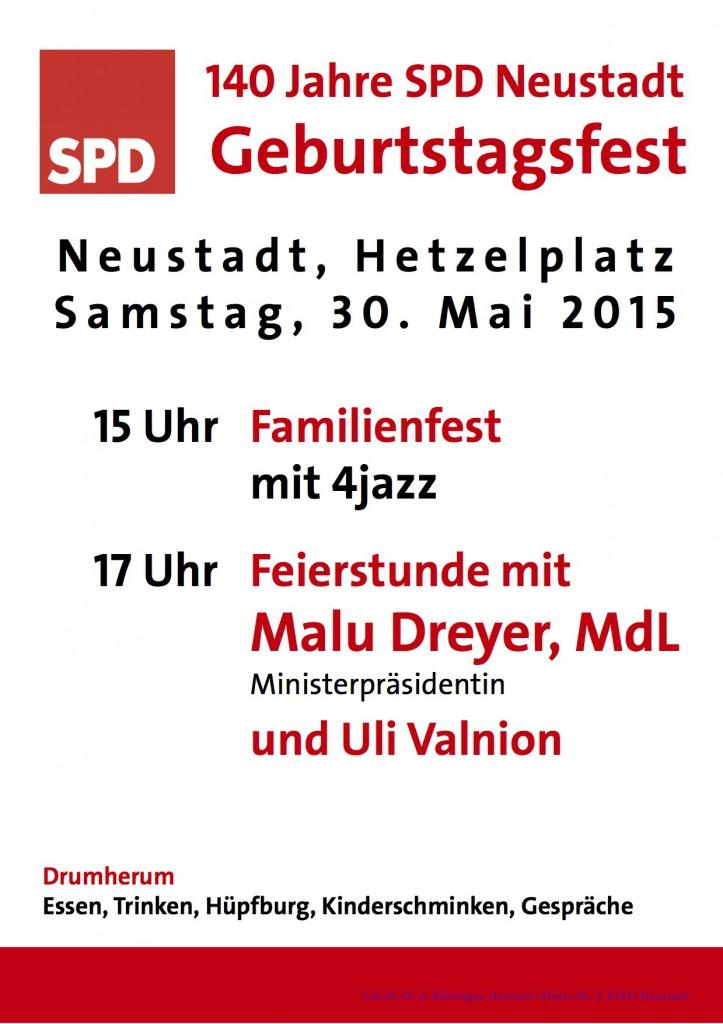 Plakat 140 Jahre SPD NW